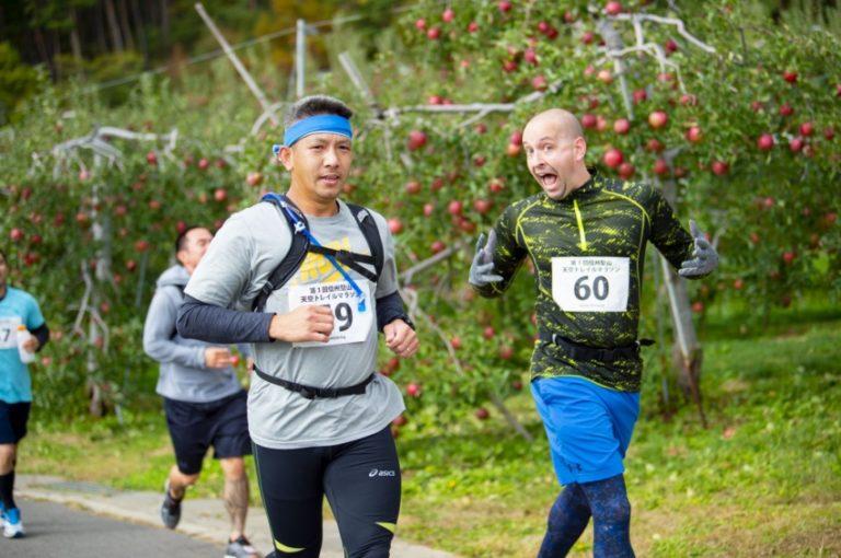 runners during shinshu tenku trail race