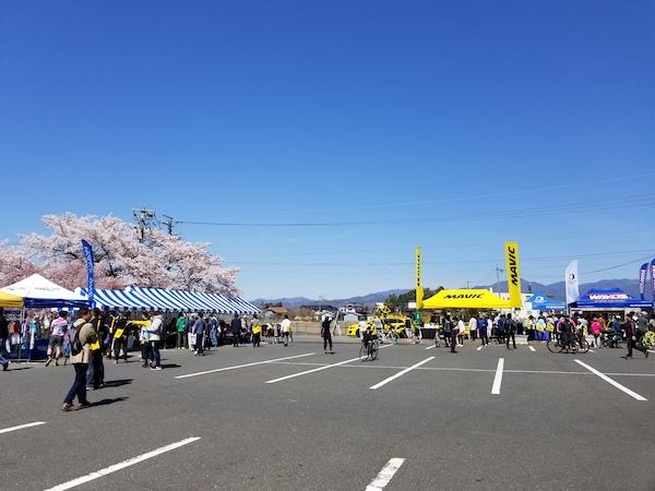 Vendors at cycling event