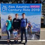 Participants at the Alps Azumino Century Ride