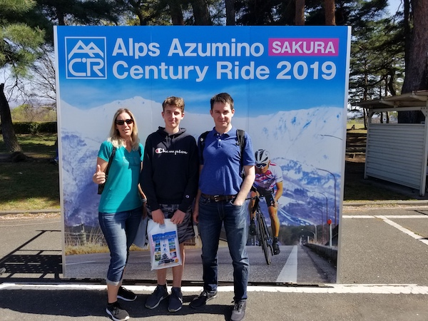 Participants at the Alps Azumino Century Ride