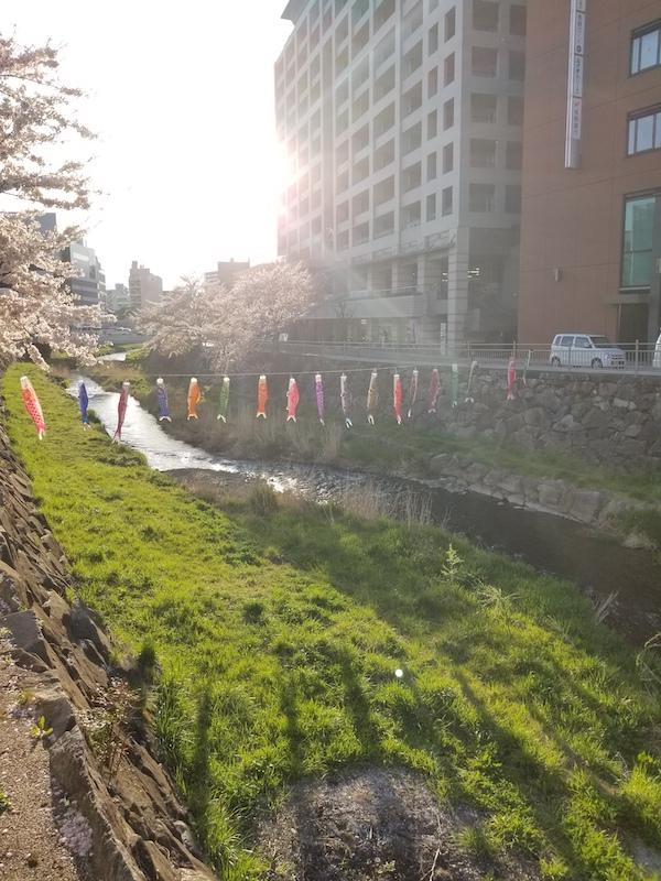 Riverside in Matsumoto, Nagano