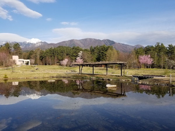 View of Japan's northern alps in Nagano