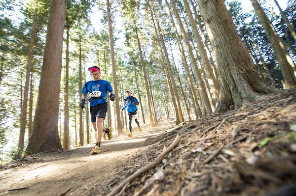 runners during Hachimine Mountain Trail Race