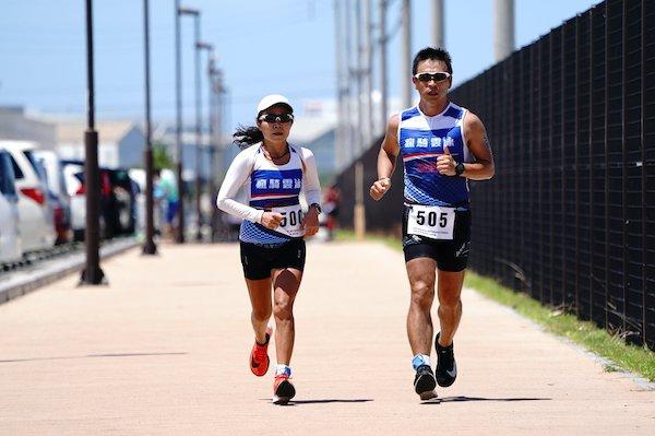Okinawa International Triathlon participants