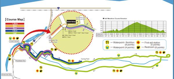 Gassan Ryujin Marathon course map
