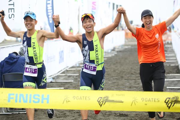 runners finishing Kujukuri Triathlon