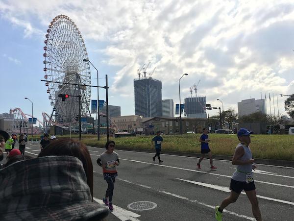 Runners during Yokohama marathon