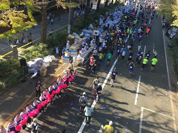 Spectators watching 2018 Yokohama Marathon