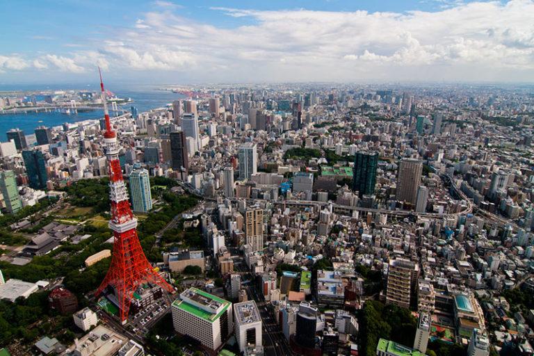 Bike Tokyo - eagle eye view of Tokyo Tower
