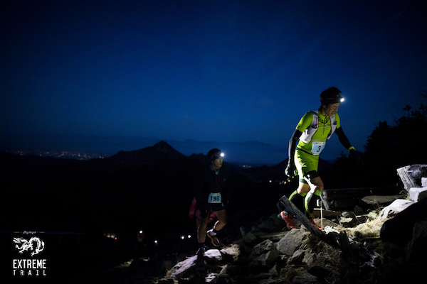 runners during shiga kogen extreme trail run