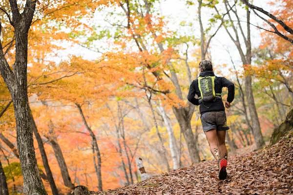 runner during shiga kogen extreme trail run