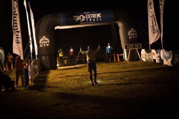 runner finishing shiga kogen extreme trail run