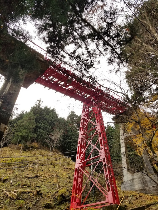 Mt. Mitake train cable car tracks scenery