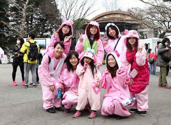 Tokyo breast cancer awareness