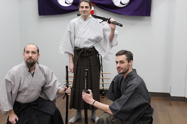 Group photo at tate Samurai Workout