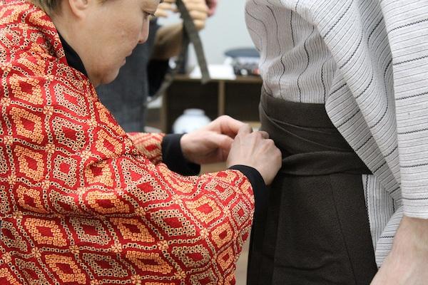 Preparing hakama for Samurai Workout