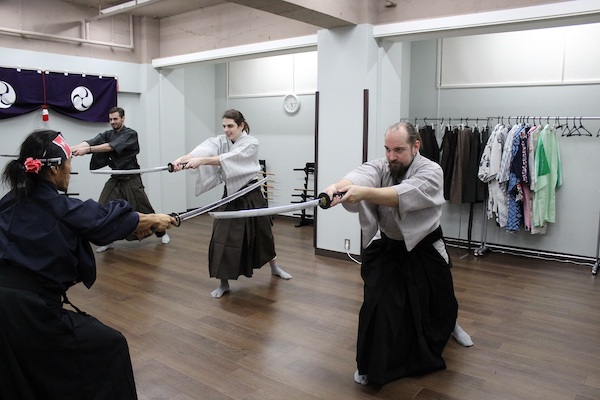 Learning how to strike with sword
