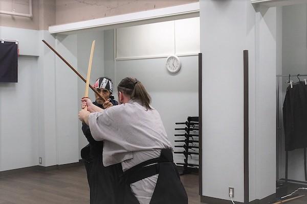 Re-enacting sword fighting scene