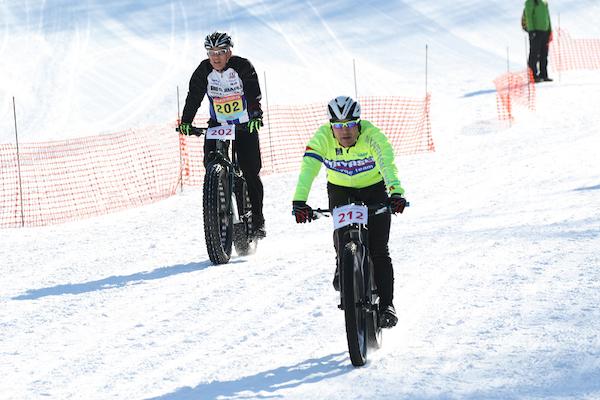 Downhill snow bike in Japan