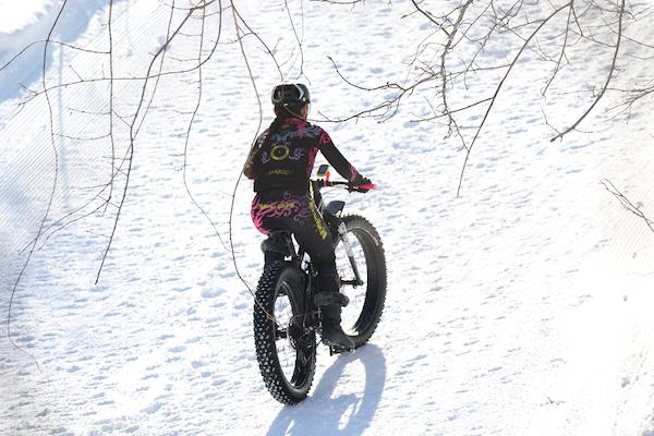 2019 Snow Endurance Festival snow bike participant