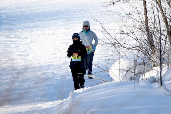 Brisky run in snow in Japan