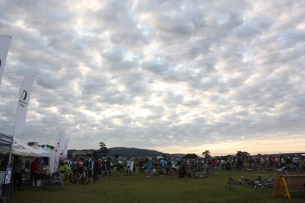 cyclist before Ashigara Long Ride