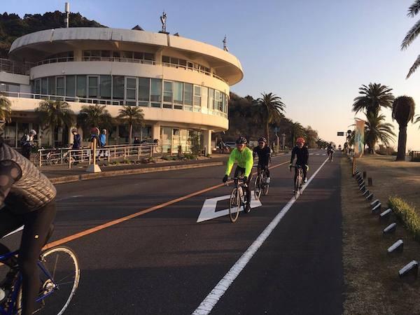 cyclist during great earth miyazaki ride