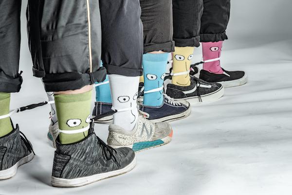 runners wearing race socks
