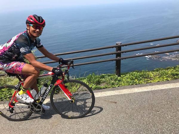 cyclist during great earth akiga oga ride