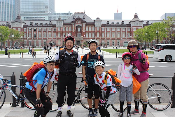 participants of the Bicycle Ride in Tokyo