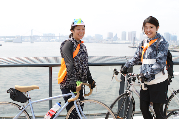 cyclist posing during Bicycle Ride in Tokyo