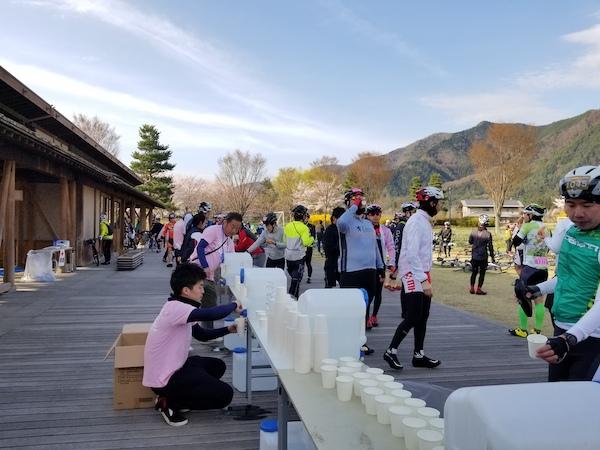 aid station on AACR sakura course
