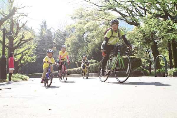 cyclist during Bicycle Ride in Tokyo