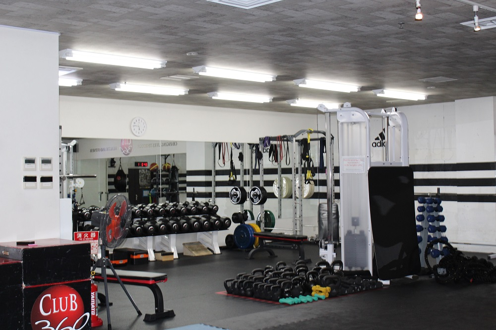 Club 360 gym space in Tokyo