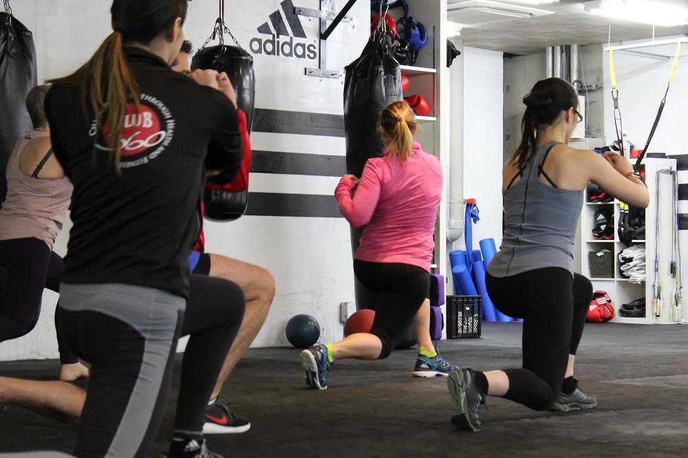 Ladies at gym in Tokyo