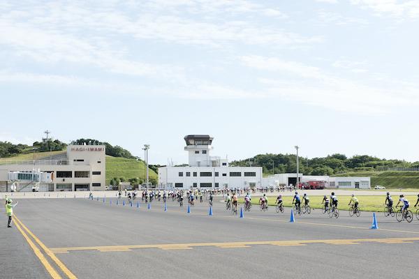 cyclist during Masuda Inaka Ride