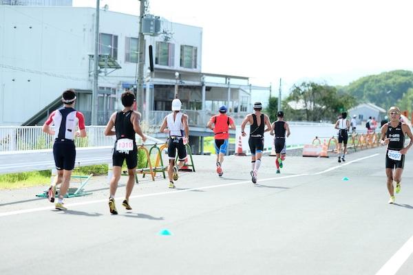Runners during Kyoto Tamba Triathlon