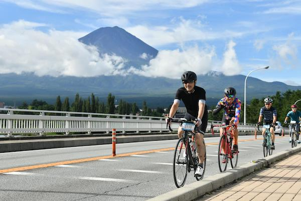 cyclist during the Mt Fuji 360