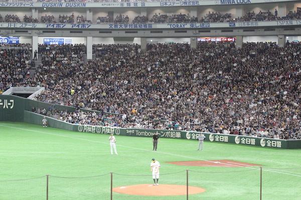 Ichiro getting standing ovation