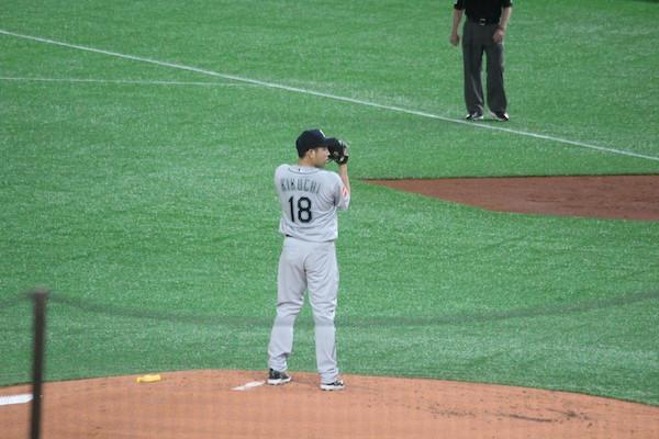Japanese pitcher Kikuchi