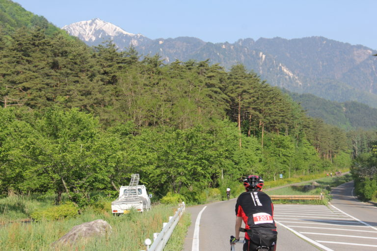 Cycling in Nagano open roads