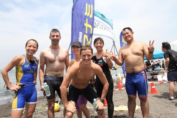 Participants of Tateyama open water swim