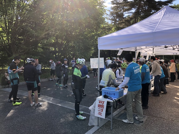 aid station during AACR Midori group