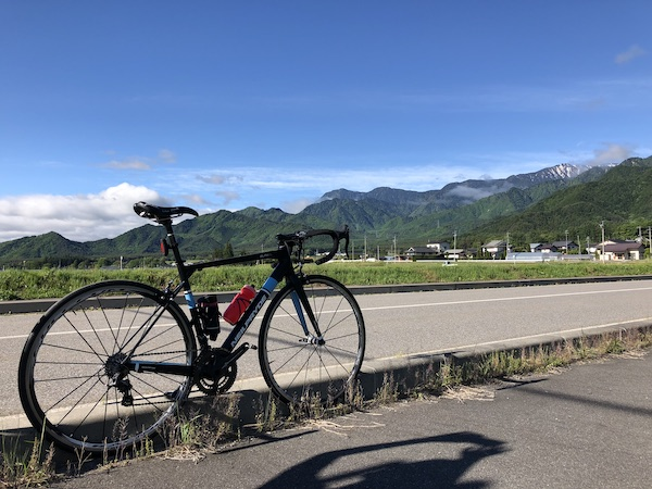 bike next to road