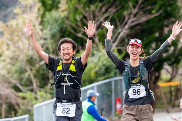 runners during minami izu trail race