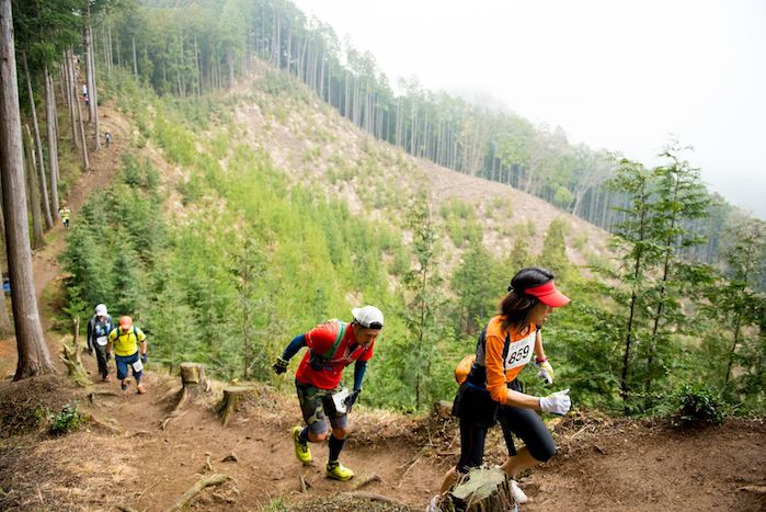 runners on Ome trail race