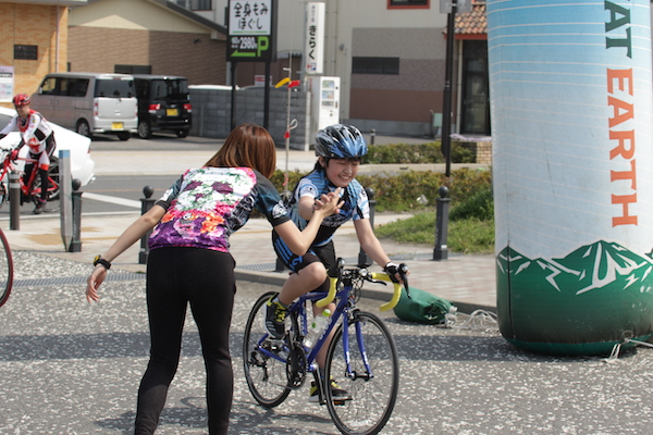 cyclist during great earth chiba minami boso ride