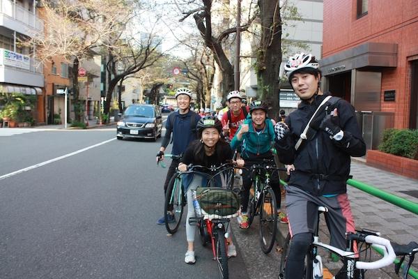 bike Tokyo participants