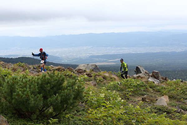runners during Tokachidake trail race