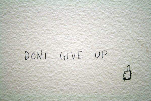 motivational writing on wall